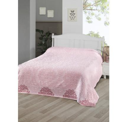 Махровая простынь Karna Ottoman (розовая)