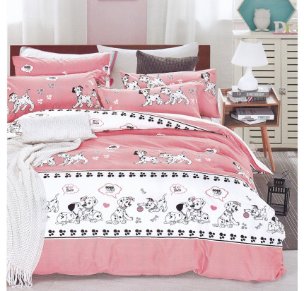 Karna Dalmatian (розовый) детское постельное белье