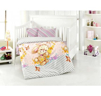 Детское белье в кроватку Altinbasak Pamuk (розовое)