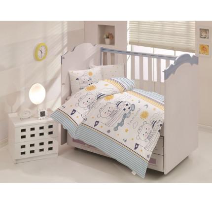Детское белье в кроватку Altinbasak Teddy (голубое)