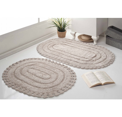 Набор ковриков для ног Modalin Yana (экрю) 50x70+60x100
