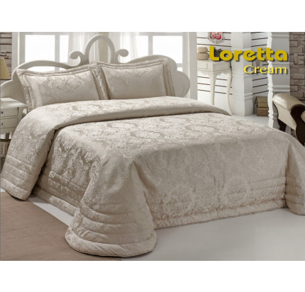 Покрывало Karna Loretta (кремовое) 250х270
