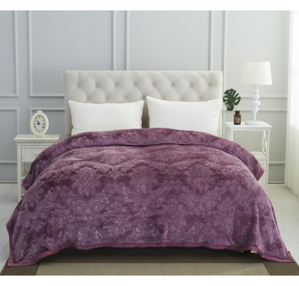 Плед вельсофт Karna Darvin (фиолетовый) 220x240