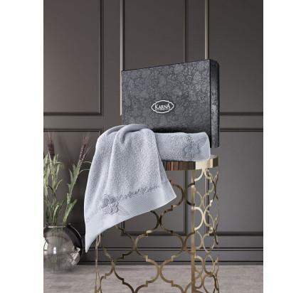 Набор полотенец Karna Siena (серый, 2 предмета)