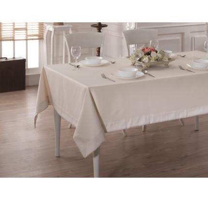 Скатерть Karna Cotton Linen с кантом V4 160x220