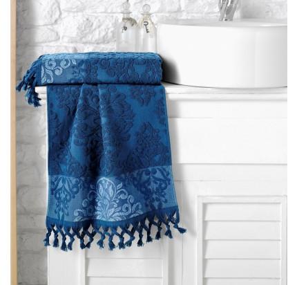 Полотенце Karna Ottoman (синее)