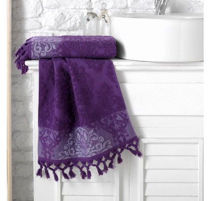 Полотенце Karna Ottoman (фиолетовое)