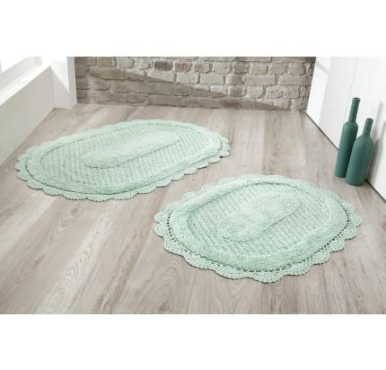 Набор ковриков для ног Modalin Lokal (ментол) 50x70+60x100