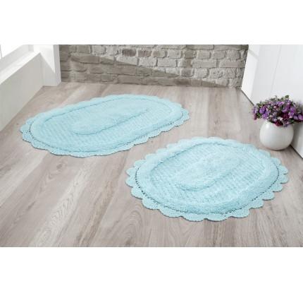 Набор ковриков для ног Modalin Lokal (светло-бирюзовый) 50x70+60x100