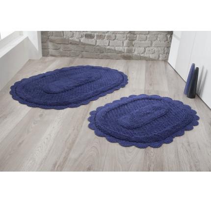 Набор ковриков для ног Modalin Lokal (синий) 50x70+60x100