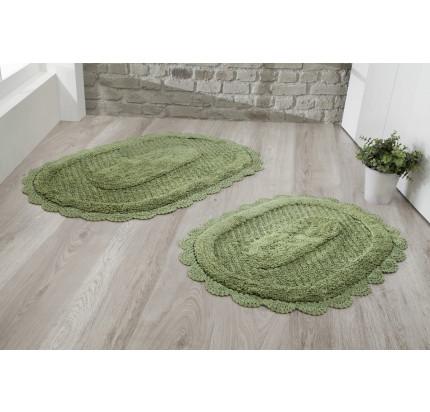 Набор ковриков для ног Modalin Lokal (темно-зеленый) 50x70+60x100