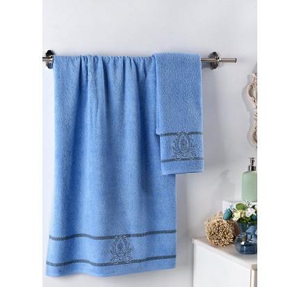 Набор полотенец Karna Davin (голубой, 2 предмета)