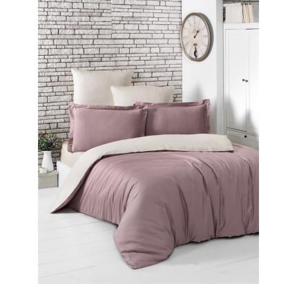 Постельное белье Karna Loft (грязно-розовый-бежевый)