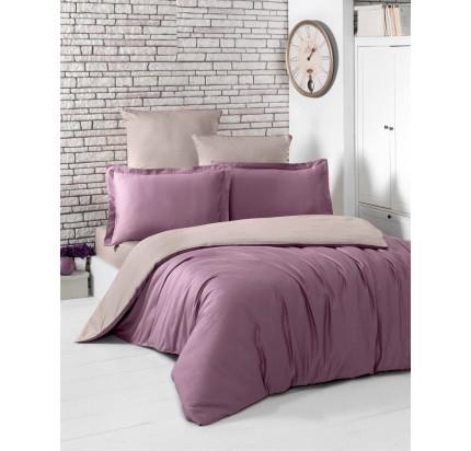 Постельное белье Karna Loft (светло-фиолетовый-капучино)