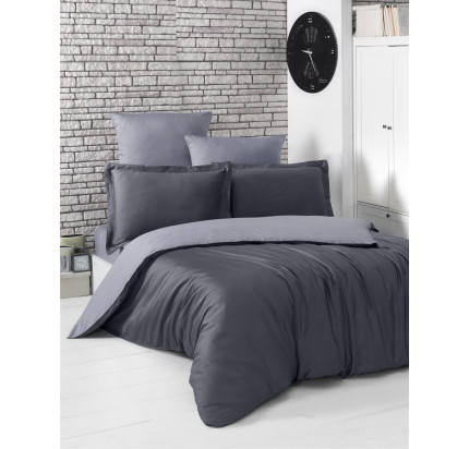 Постельное белье Karna Loft (темно-серый-серый)