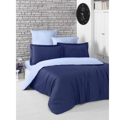 Постельное белье Karna Loft (темно-синий-голубой)