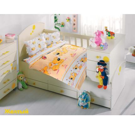 Детское белье в кроватку Altinbasak Sevimli Собачки (желтое)