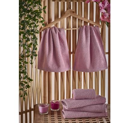 Полотенце-салфетка Karna Petek (грязно-розовое) 30x50