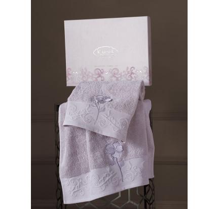 Набор полотенец Karna Lilyan (светло-лавандовый, 2 предмета)