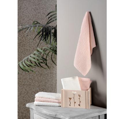 Набор салфеток Karna Flori персиковый (30x30, 6 предметов)