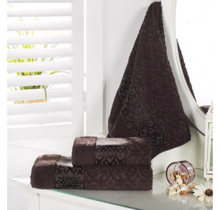 Полотенце Karna Sahra (коричневое)