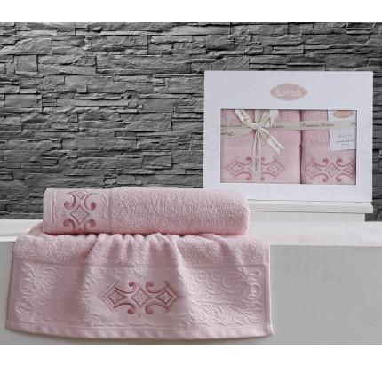Набор полотенец Karna Galata (розовый, 2 предмета)