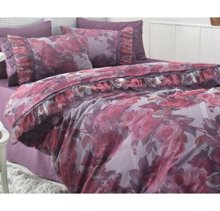 Постельное белье Gelin Home Ebru (фиолетовое) евро