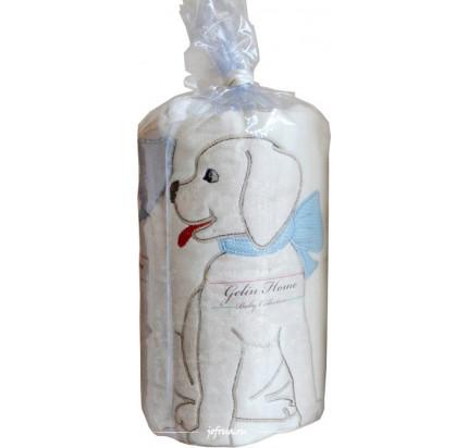 Детский плед Gelin Home Собачка (голубой) 85x100