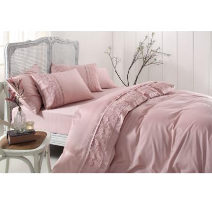 Свадебное постельное белье Cannes (розовое) евро