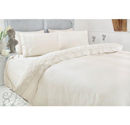 Свадебное постельное белье Gelin Home Esma (шампань) евро