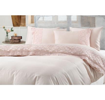 Свадебное постельное белье Gelin Home Esma (персиковое) евро