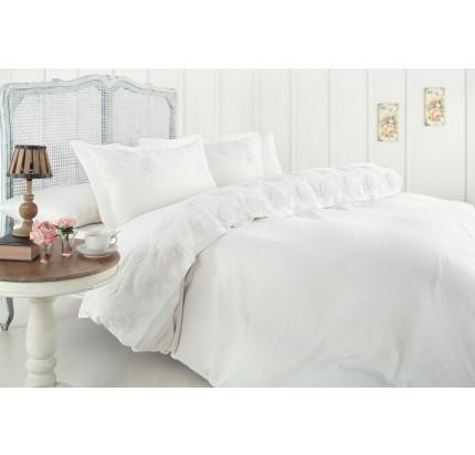 Свадебное постельное белье Gelin Home Milano (белое) евро