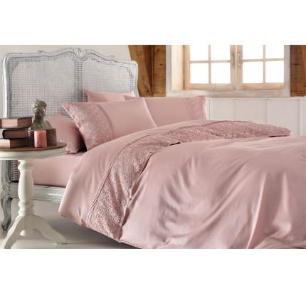 Свадебное постельное белье Gelin Home Marsilya (розовое) евро