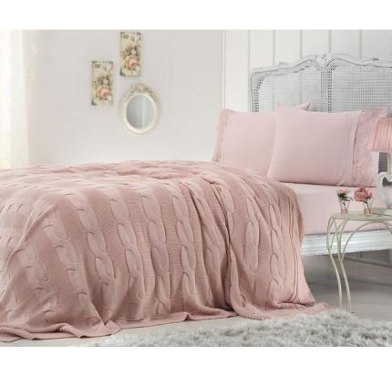 Вязаный плед Gelin Home Anna (грязно-розовый)