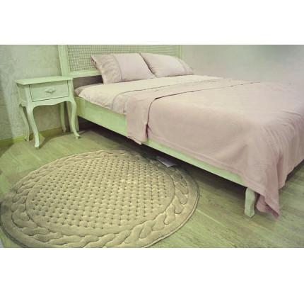 Коврик для ног Gelin Home Erguvan коричневый 120 см. (круглый)