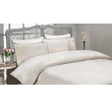 Свадебное постельное белье Gelin Home Gulru (белое) евро
