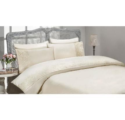 Свадебное постельное белье Gelin Home Gulru (шампань) евро