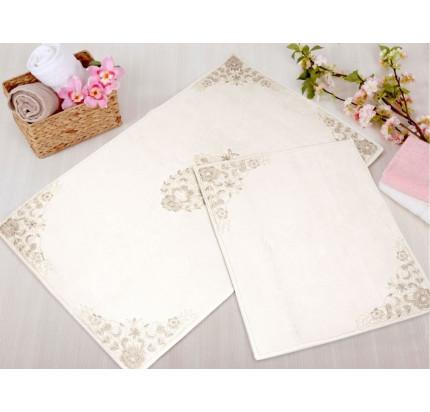 Набор ковриков Gelin Home Hanedan (2 предмета) кремовый