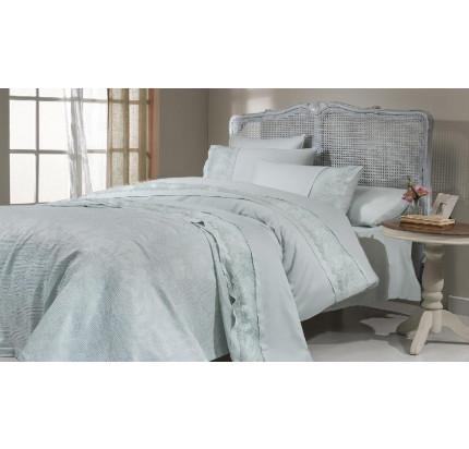 Набор постельного белья с пике Gelin Home Ipek (бирюзовый) евро