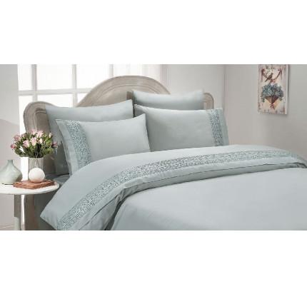Свадебное постельное белье Gelin Home Isil (бирюзовое) евро