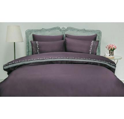 Свадебное постельное белье Gelin Home Mimoza (лиловый) евро