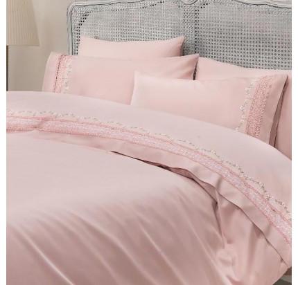 Свадебное постельное белье Gelin Home Mimoza (розовое) евро