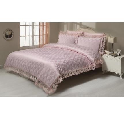 Постельное белье Gelin Home Nisa (розовое) евро