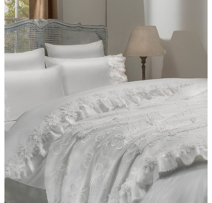 Свадебный набор Gelin Home Peri (белый) евро