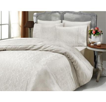 Свадебное постельное белье Gelin Home Yildiz (кремовое) евро