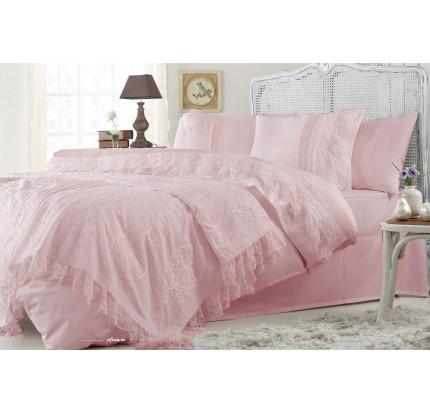 Набор постельного белья с покрывалом Gelin Home Funda (грязно-розовый) евро