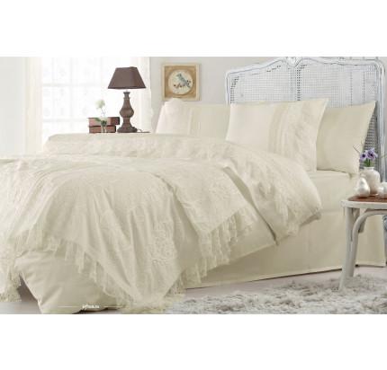 Набор постельного белья с покрывалом Gelin Home Funda (шампань) евро