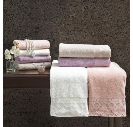 Набор полотенец Tivolyo Olivia (фиолетовый) 2 предмета