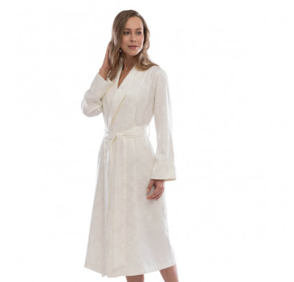 Халат женский Tivolyo Hampton (кремовый) размер S-M