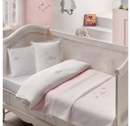 Детское белье в кроватку Tivolyo Happy (розовое)